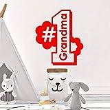 zqyjhkou Creative Grand-mère Premier Vinyle Papier Peint Meubles décoratifs pour la Chambre d'enfant Vinyle Art Stickers 3 XL 57 cm X 66 cm