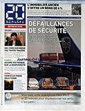 20 MINUTES [No 1921] du 03/11/2010 - L'IMMOBILIER ANCIEN S'OFFRE UN BON DE 6 POUR CENT - DEFAILLANCE DE SECURITE - DES VOIES SUR BERGE PAS TOUTES TRACEES - RACHIDA DATI - ACCORD HISTORIQUE SUR LA BIODIVERSITE - COINCE 6 PIED SOUS TERRE AVEC BURIED / FILM DE RODRIGO CORTES...