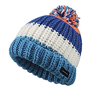 Dare 2b Boys & Girls Lineation Acyrlic Knit Fleece Beanie Bobble Hat
