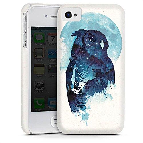 Apple iPhone 5s Housse Étui Protection Coque Hibou Hibou Nuit Cas Premium mat