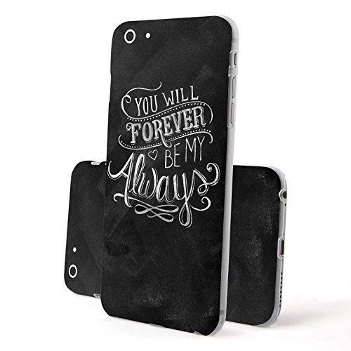 FINOO Trasparente Custodia cellulare Hardcase Citazioni - Casa dolce casa, iPhone 6/6S Plus Forever always