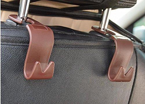 4pcs Auto Lagerung Haken,Rücksitz Kopfstütze Haken - Mantel -