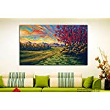 Tamatina Canvas Paintings - Peaceful Life In Forest - Modern Art Paintings - Paintings For Home Décor - Paintings For Drawing Room - Wall Paintings For Bedroom - Paintings For Living Room - Canvas Paintings For Wall - Large Size Paintings For Bedro