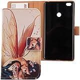 """Lankashi PU Flip Funda De Carcasa Cuero Case Protective Cover Piel Para Xiaomi Mi Max 6.44"""" con cierre magnético función (Wing Girl Design)"""