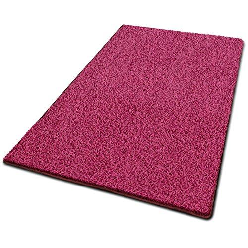 casa pura Tapis shaggy tapis poil long   tapis doux, épais   Qualité allemande   tapis de chambre   tailles et couleurs au choix   Barcelona, 66x130cm - ros