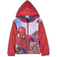 Spiderman Marvel Official Licensed Boys Warm Zipped Jacket, Coat Polar Fleece Lining for Spring/Summer/Autumn - Red 3