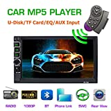 Auto da 7 pollici con radio universale MP5 dual DIN Radio multimediale con supporto a distanza touch screen HD Bluetooth / formato audio video / USB / TF card / ingresso telecamera posteriore