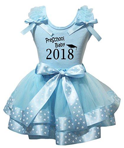 Vorschul Kostüm - Petitebelle Vorschul Baby-2018-Blau-Hemd-Blau-Herz-Punkte Petal Rock Nb-8J 6-8 Jahre Hellblau