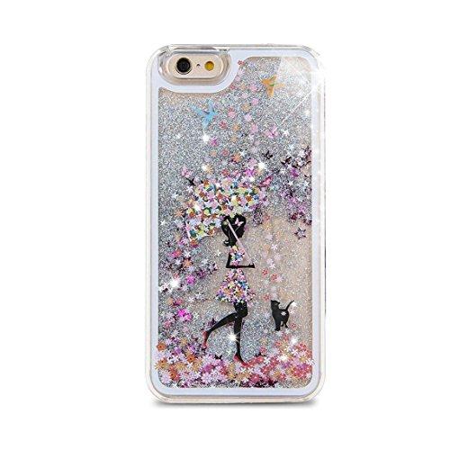 iPhone 6S Plus Hülle Bling,iPhone 6S Plus Hülle Flüssigkeit,iPhone 6 Plus Hülle Glitzer,iPhone 6S Plus Case Transparent,Flüssig Glitzer Case Cover Hülle Tasche Schutzhülle für iPhone 6S Plus,EMAXELERS Angel Girl 6