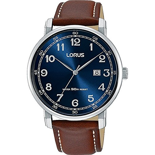 Lorus Mens Analogue Quartz Watch with Leather Strap RH929JX9