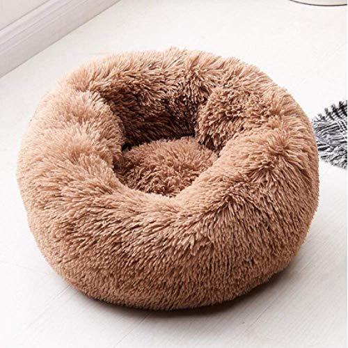 YYQ Warme Fleece Hundebett Runde Pet Lounger Kissen Für Kleine Mittelgroße Hunde Katze Winter Hundehütte Puppy Mat Pet Bett -