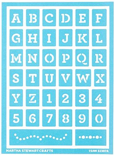 Plaid Enterprises Inc. Martha Stewart Selbstklebendes Schablonen-Set Schreibmaschine (Stencil Airbrush Template Set)