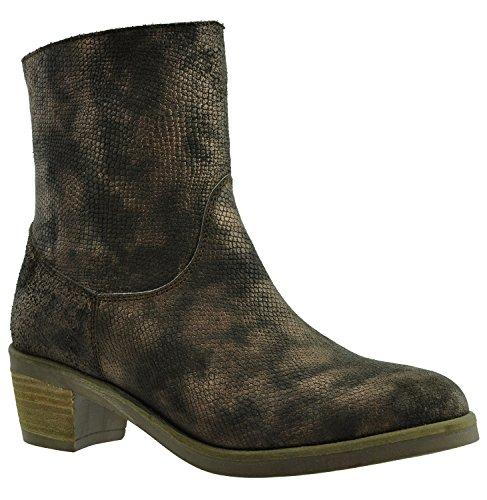 JJ Footwear Bottines Femme Cuir Danville Standard Largeur 21.9 cm - 25.5 cm Bruin Livery Cloud
