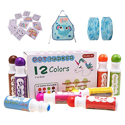 12 Colours Dot Markers,Shuttle A...