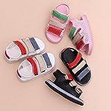 QinMM Bébé Sneakers LED Sandales Chaussures Baskets Mode Garçons Filles, Brillant Pansements Confortable Enfants Lumière Up Lumineux Chaussures de Sport Running (CN: 24/EU: 23, Rose)