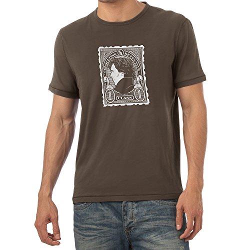 TEXLAB - Sherlock Consulting Detective - Herren T-Shirt Braun