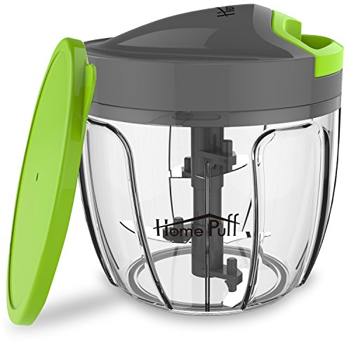 home puff h14 0.9-liter chopper with storage lid (green) - 51CDsJvKSFL - Home Puff H14 0.9-Liter Chopper with Storage Lid (Green)