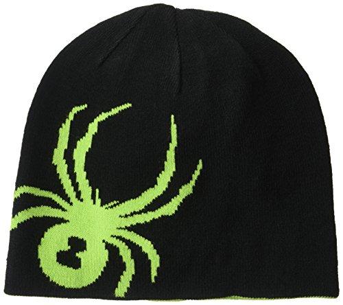 Spyder Kinder Boy'S Reversible Bug Kopfbedeckung, 017 Blk/Fsh, One Size (Skibekleidung Für Kinder Spyder)