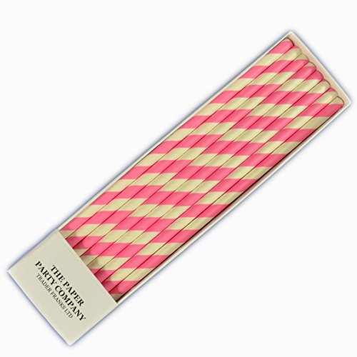 25-x-retro-paper-straws-over-50-colour-choices-in-listing-striped-polka-dot-by-tfs-barbie-pink-strip