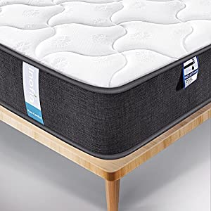 Inofia Mattress Memory Foam Mattress 3D Breathable Fabric Mattress with Pocket Springs/7-Zone Support System/8.7 Inch Depth (100 Night Test at NO Risk)