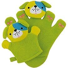 Sterntaler 9701619 Geschenk-Set Baby-Klettlätzchen Waschhandschuh Greiffigur