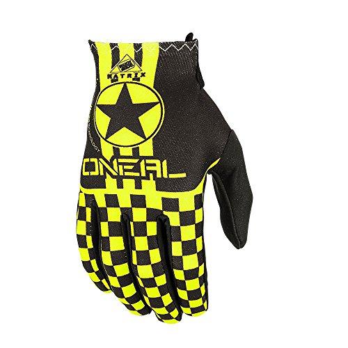 Oneal Matrix Wingman Kinder Motocross Handschuhe Cross Enduro Offroad Quad MTB BMX Sx Mx Fr Dh Schwarz Gelb (S)