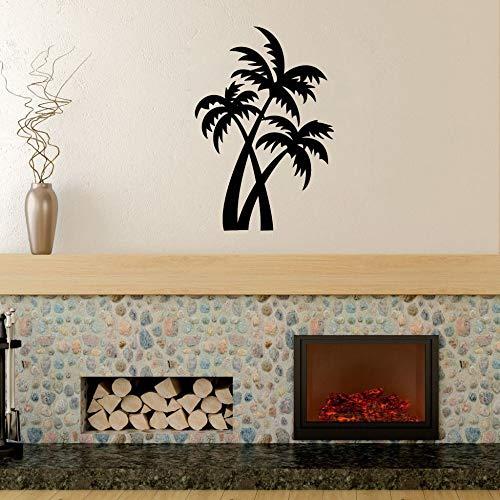 Guijiumai palme adesivi murali decorazioni per la casa soggiorno pianta parete in vinile arte decalcomanie camera da letto ufficio decorazione parete carta da parati albero rosso 42x62 cm