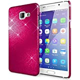 Samsung Galaxy A5 2016 Coque Protection de NICA, Ultra-Fine Glitter Housse Slim Hardcase Paillettes Phone Cover, Etui Rigide Strass Bumper Mince pour Telephone Portable Samsung A5 2016 - Pink Rose