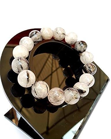 Bracelet en Quartz Tourmaline Bijoux Minéral Lithothérapie en Pierre Naturel
