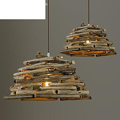 Village vintage primitive wood chandelier/ creative personality wood