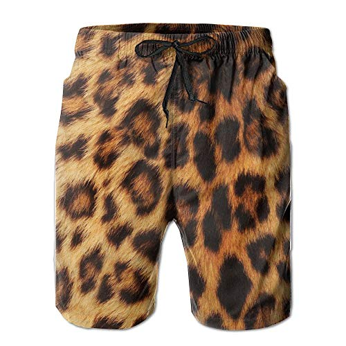 Leopard Pattern (2) Men's Beach Shorts Swim Trunks Medium -