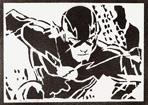 The Flash Justice League Poster Plakat Handmade Graffiti Street Art - Artwork -