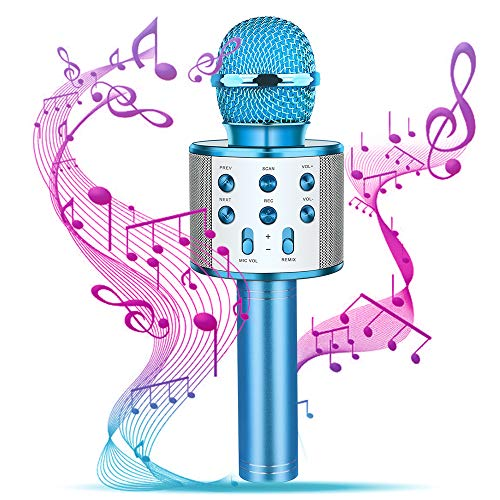 Dreamingbox Weihnachts Geschenke für Mädchen, Kabelloses Karaoke Mikrofon für 4-12 jährige Kinder Cooles Spielzeug für Jungen 4-12 Jahre Jungen Kinder Geschenk Spielzeug Mädchen 4-12 Jahre