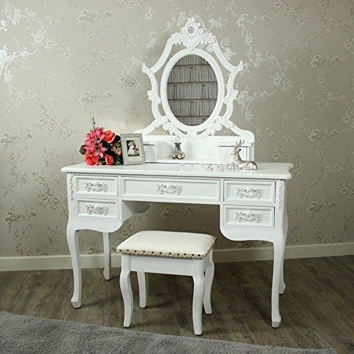 Paga-Blanc-gama-Color-blanco-antiguo-tocador-espejo-y-taburete
