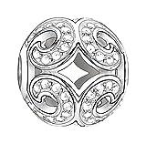 Thomas Sabo Damen-Bead Glitzernde Welle Karma Beads 925 Sterling Silber Zirkonia weiß K0012-051-14