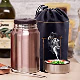 MDRW-Couver alambic, inox, gobelets, boîtes à lunch isolé sous vide, pot à bouillir,750ml brun