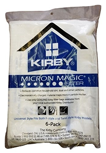 Kirby Part # 204808/204811–Genuine Kirby Style F HEPA filtration Vacuum Bags for Sentria models–6/Package, Sentria,