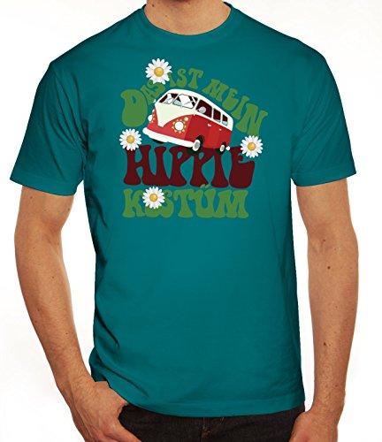 Karneval Herren T-Shirt mit Das ist Mein Hippie Kostüm Motiv, Größe: S,Diva (S Halloween Kostüme Ideen)