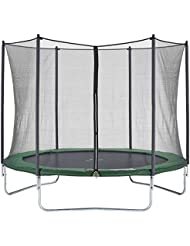 CZON SPORTS Trampoline, 10ft Outdoor with safety enclosure net, green