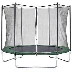 Idea Regalo - CZON SPORTS trampolino, 300 cm tappeto elastico con rete di sicurezza, verde|trampolino elastico da giardino|trampolino bambini