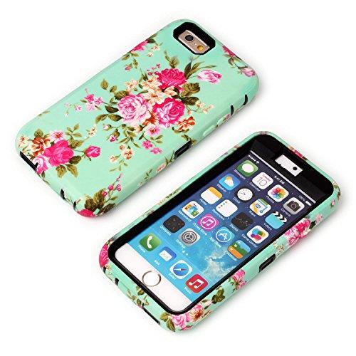 """iPhone 6/6S Hülle, FIREFISH Ultra dünner hoher Schlag-beständiger hybrider Silikon- und harter PC 3 in 1 [Schlag-Absorption] Kratzer-schützender Fall für Apple iPhone 6/6S 4.7"""" Schwarz"""