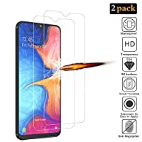 ANKENGS Samsung galaxy A20e Screen Protector [2 Pack], Samsung galaxy A20e Glass Screen Protector, [Full Coverage] [Anti-scratch] [Bubble Free] Tempered Glass for Samsung galaxy A20e