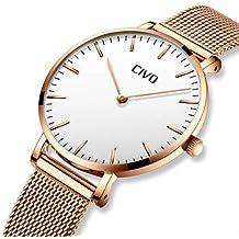 CIVO Relojes Mujer Ultra Fino Silm Minimalista Reloj de Señoras Impermeable  Moda Vestir Elegante Relojes de e2f3fea57dca