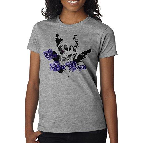 Skull Weed Lief Layer 1 Damen T-Shirt Grau