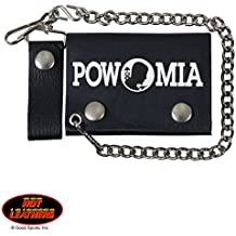 POW MIA LOGO, Detachable Chain & Leather Belt Loop Snap,