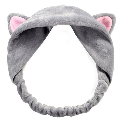 AK. SSI grau Puder Ohr Cute Cat Ohren Hair Band Wash Haar Band 1