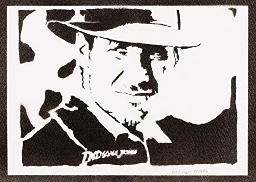 Indiana Jones Poster Plakat Handmade Graffiti Street Art - Artwork (Harrison Kostüm)