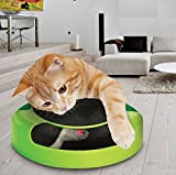 ITP 128643 - Cat Kitten Catch The Mouse Moving Play Toy Interactive Plush Scratching Claw Mat
