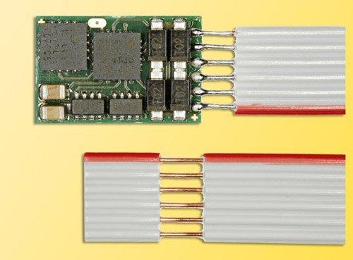 DHU 161 DCC/Selectrix Motor Control Decoder w/4 300mA Function Outputs -- 1 Amp Motor Output, NEM 6-Pin, 9/16 x 3/8 x 1/16 1.42 x .92 x .2cm by Viessmann -