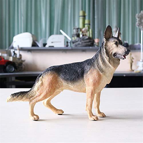 BAIOLL Skulpturen Statuen Dekoartikel Deutscher Schäferhund Modell Demu Desktop Decoration Black Back Simulation Hund Autozubehör -